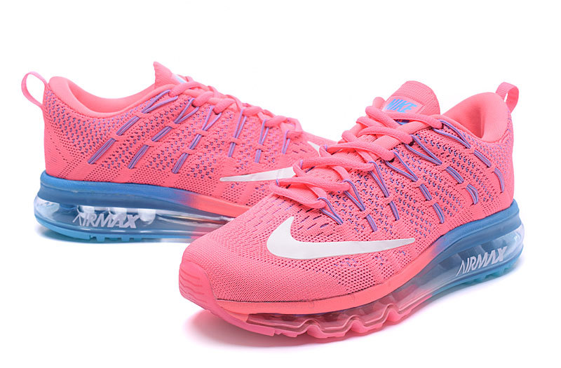 air max 2016 flyknit rose et bleu femme solde,chaussure nike air max 2016 pour femme