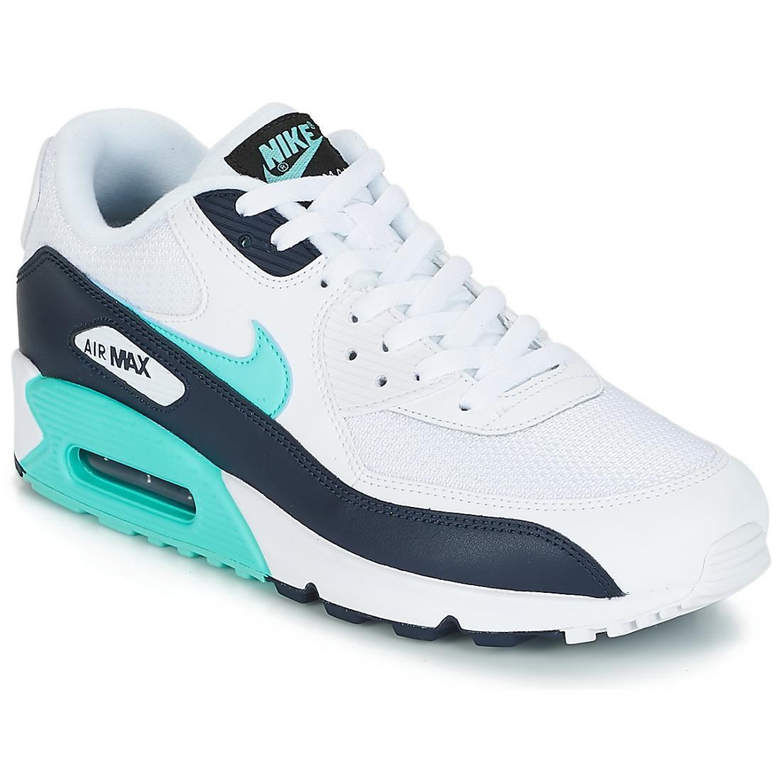 air max 90 essential blanche et bleu homme,Nike Air Max 90 Essential blanche et bleue Chaussures Baskets