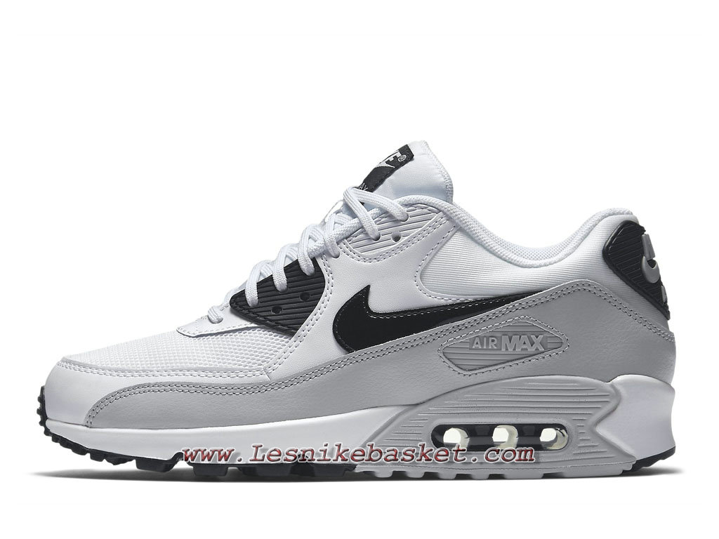 air max 90 essential pas cher gris,Nike Wmns Air Max 90 Essential Gris Blanc 616730_111 Chaussures