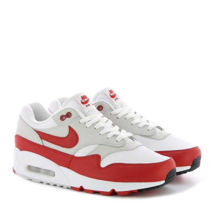 nike air max rouge et blanche femme,WMNS AIR MAX 90 1 Blanc Rouge Femme Homme Nike Sneakers