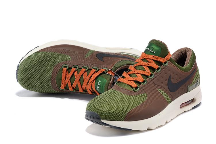 nike air max zero verte et marron homme,Nike Air Max Zero Essential verte Chaussures Baskets homme