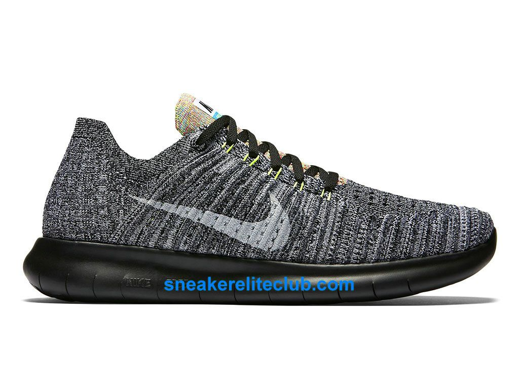 Nike Free RN Motion Flyknit M homme Noir pas cher